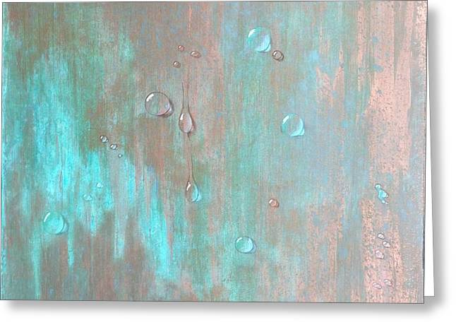Water On Copper Greeting Card