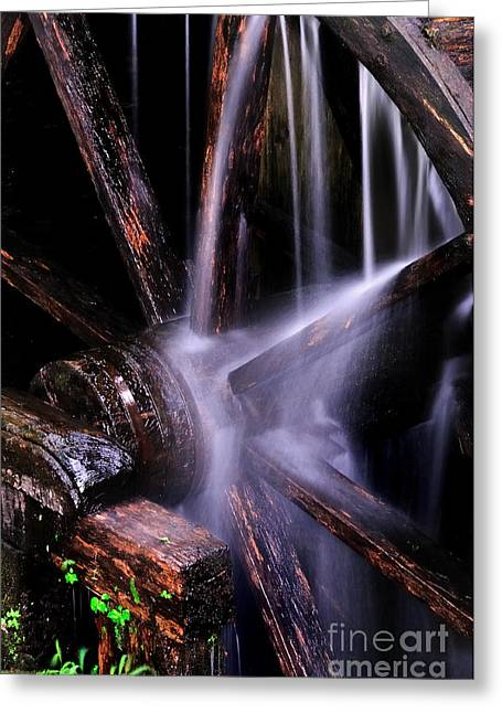 Water Over The Cable Mill Wheel Greeting Card by Thomas Schoeller