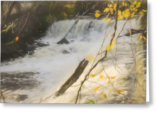 Water Over The Dam. Greeting Card
