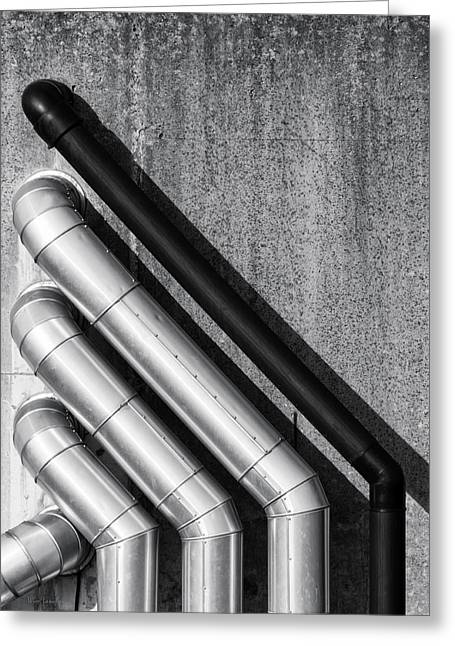 Water Pipes Greeting Card by Wim Lanclus