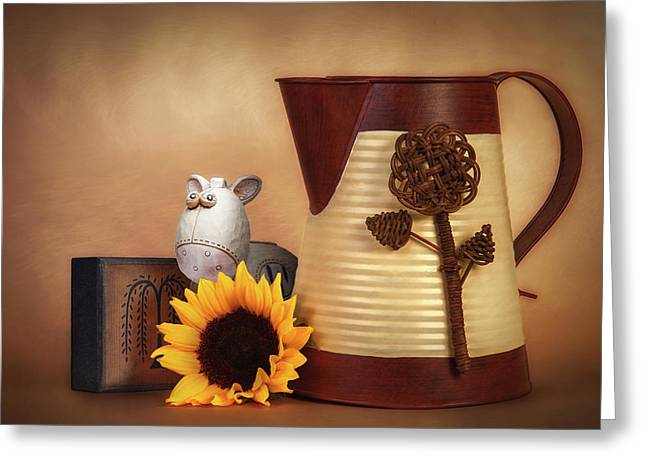 Water Pitcher Still Life Greeting Card by Tom Mc Nemar