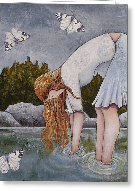Water Prayer Greeting Card by Sheri Howe