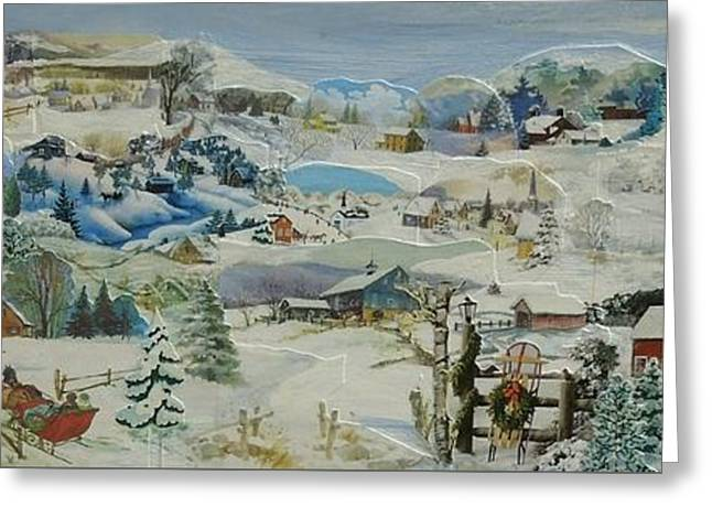 Water Pump In Winter - Sold Greeting Card