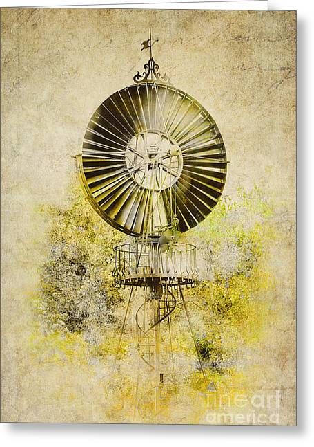 Water-pumping Windmill Greeting Card by Heiko Koehrer-Wagner