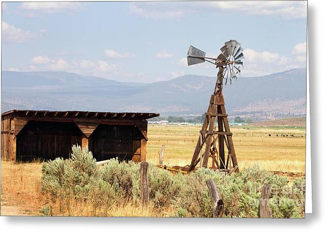 Water Pumping Windmill Greeting Card