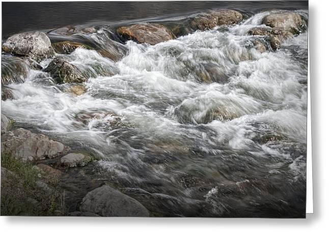 Water Rapids In Breckenridge Colorado Greeting Card