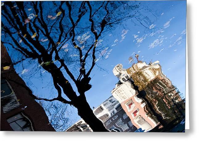 Water Reflection - Amsterdam  Greeting Card by John Battaglino