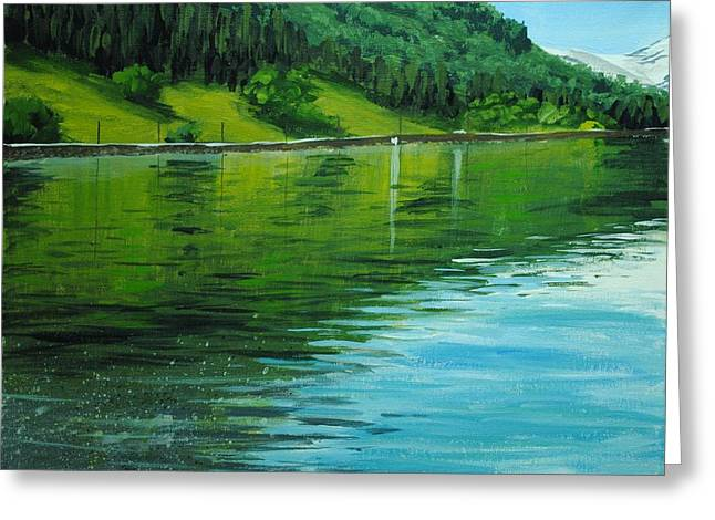 Water Reflections Greeting Card by Nolan Clark