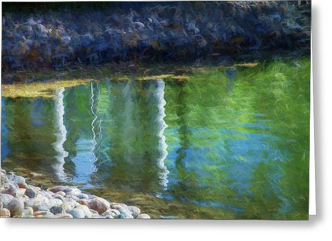 Water Reflections Greeting Card