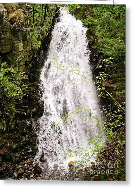 Water Roaring Down Cascade Falls, Farmington, Maine  -30377 Greeting Card