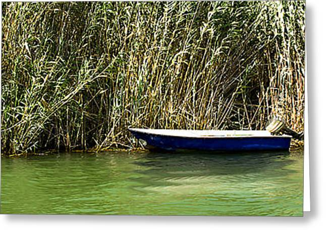 Water Scene Pano Greeting Card by Svetlana Sewell