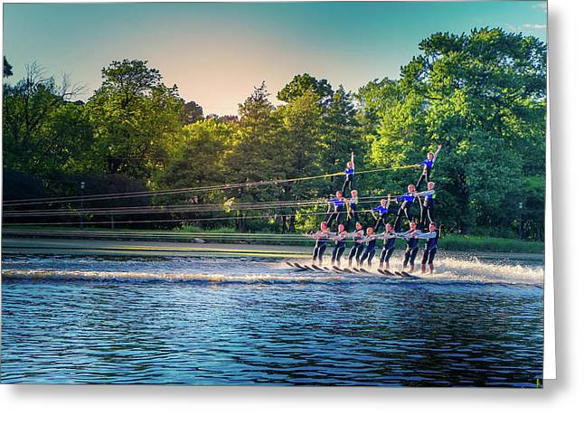 Water Ski Day Greeting Card by Art Spectrum