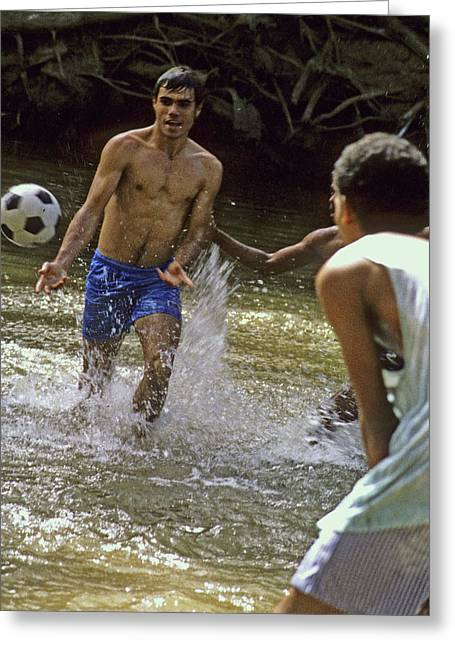 Water Soccer Greeting Card