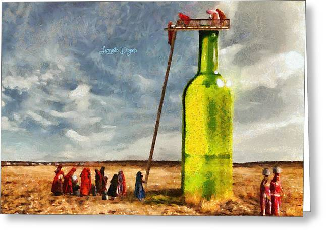 Water Source  - Camille Style -  - Da Greeting Card