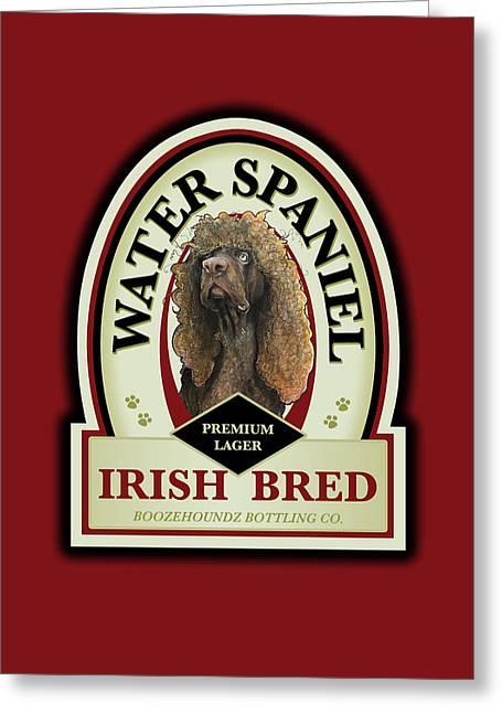 Water Spaniel Irish Bred Premium Lager Greeting Card
