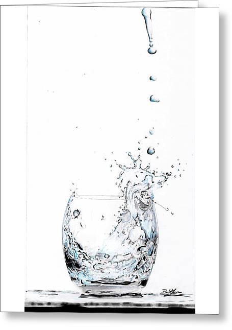 Water Splash 1 Greeting Card by Daniel House