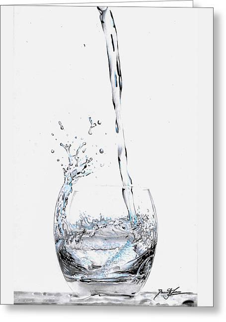Water Splash 3 Greeting Card by Daniel House