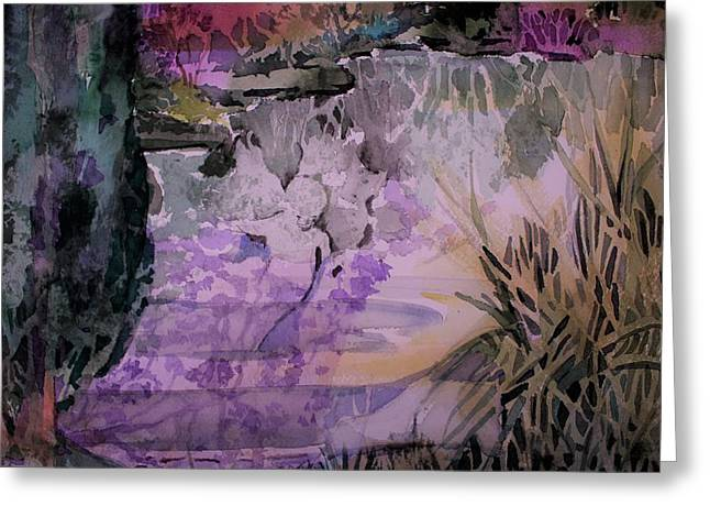 Greeting Card featuring the painting Water Sprite by Mindy Newman