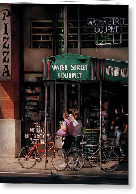 Water St Gourmet Deli  Greeting Card by Mike Savad