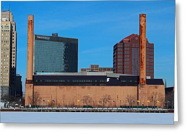 Water Street Steam Plant In Winter Greeting Card