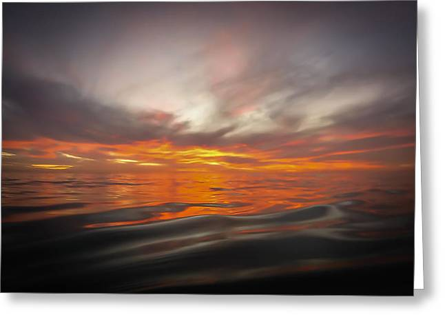 Water Sunset Greeting Card by Richard Cheski