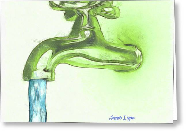 Water Tap A Greeting Card