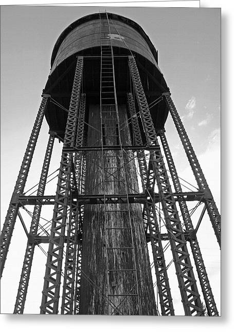 Water Tower 1 - West Yellowstone Greeting Card by Steve Ohlsen