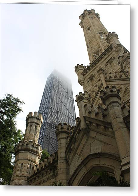 Water Tower And Hancock Greeting Card