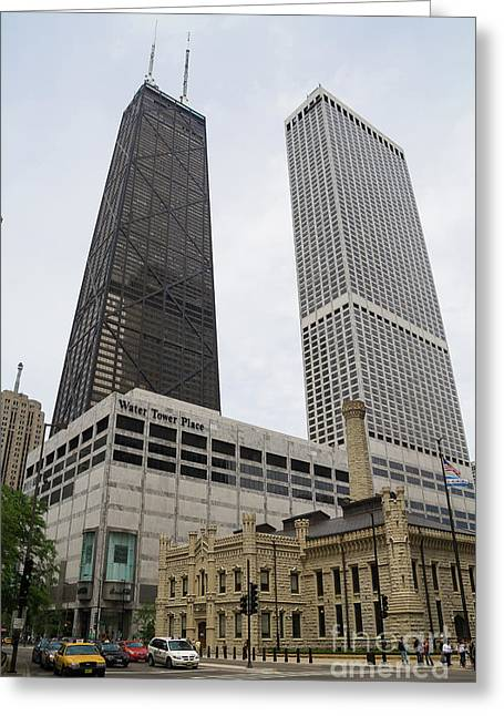 Water Tower Place And Company Greeting Card