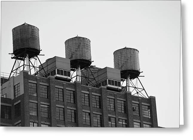 Water Towers Greeting Card