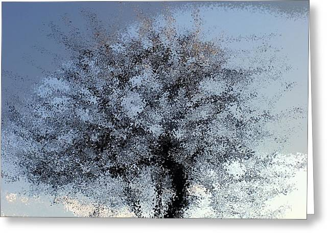 Water Tree Greeting Card by Philip Okoro