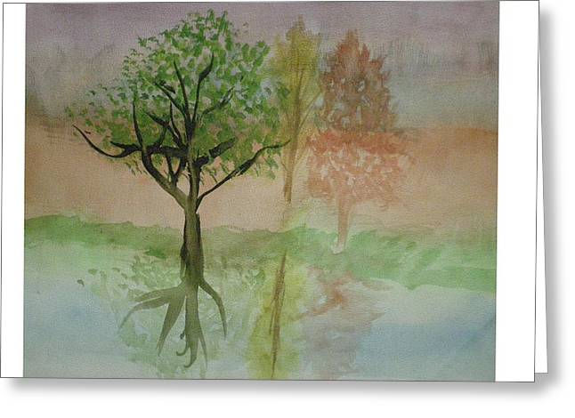 Water Trees Greeting Card by Hal Newhouser