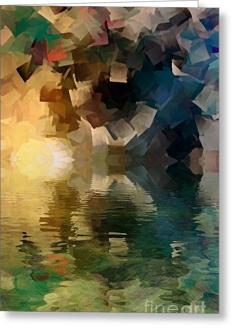 Water Tunnel Of Colors Greeting Card