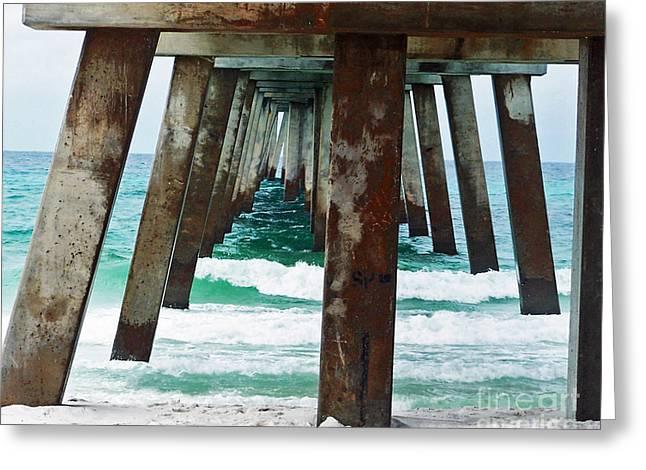 Water Under The Bridge Greeting Card by Amanda  Sanford