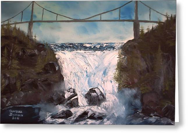 Water Under The Bridge Greeting Card by Campbell Dickison