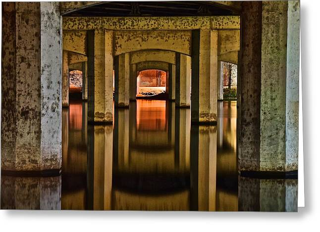 Water Under The Bridge Greeting Card by Frozen in Time Fine Art Photography