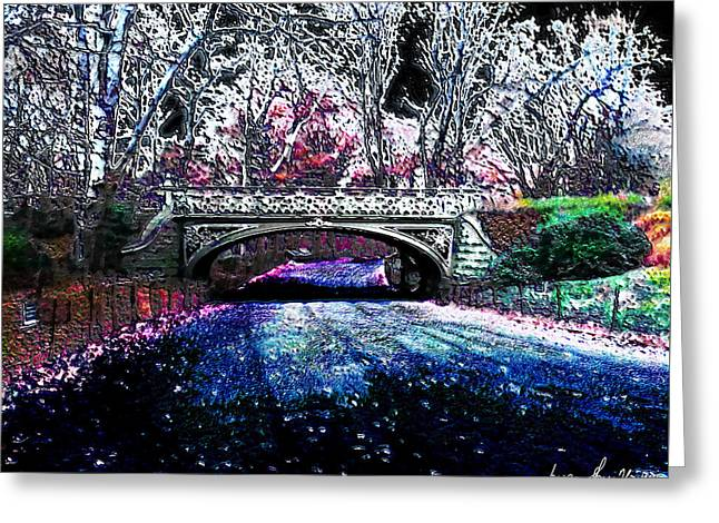 Greeting Card featuring the photograph Water Under The Bridge by Iowan Stone-Flowers