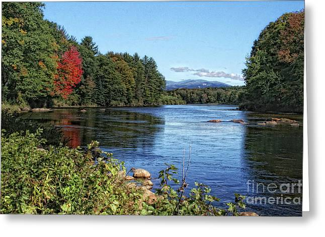 Greeting Card featuring the photograph Water View In New Hampshire by Gina Cormier