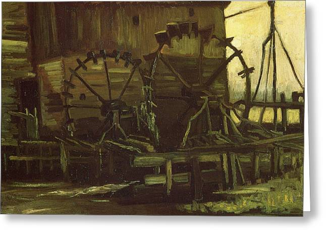 Water Wheels Of Mill At Gennep, 1884 Greeting Card