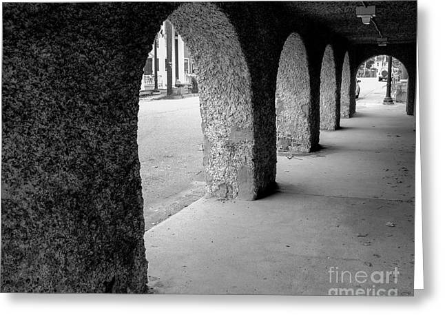 Water Works Arches Greeting Card by Jeffrey Miklush
