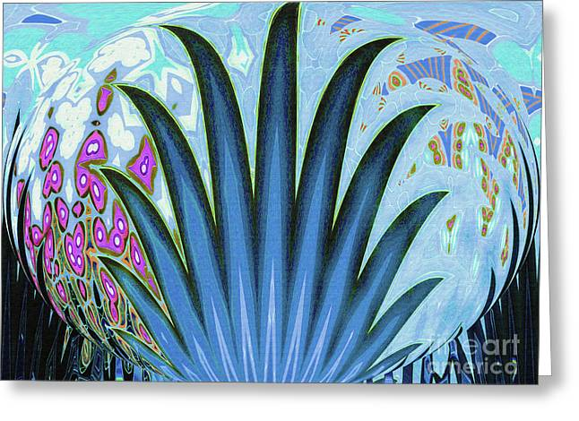 Water World Botanical Greeting Card by Ann Johndro-Collins