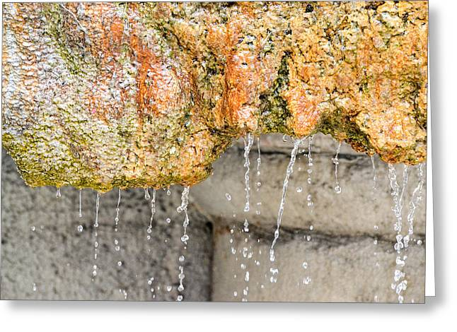 Water-worn Fountain Greeting Card by Bill Mock