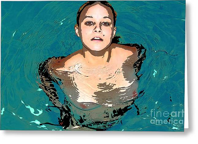 Waterbabies Greeting Card by Tbone Oliver