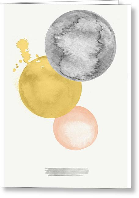 Watercolor Abstract #4 Greeting Card by Nordic Print Studio