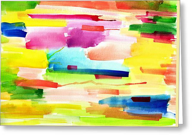 Watercolor Abstract Paintng Greeting Card by My Art