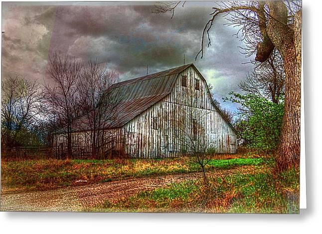 Watercolor Barn 2 Greeting Card