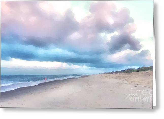 Watercolor Beach Greeting Card
