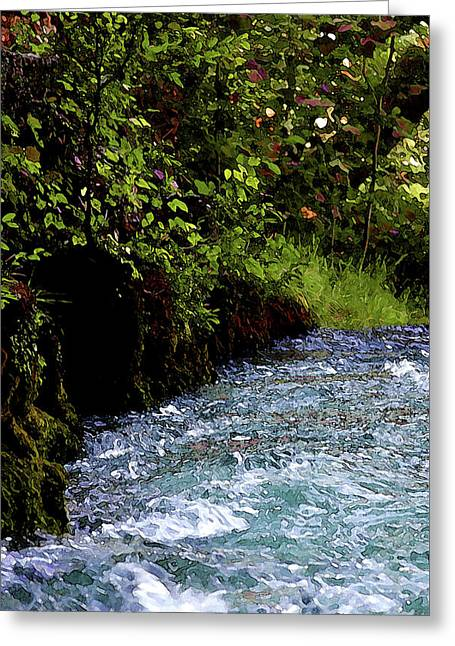 Watercolor Big Springs Missouri 2125 W_2 Greeting Card
