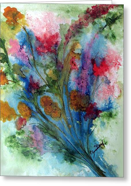 Watercolor Bouquet Greeting Card