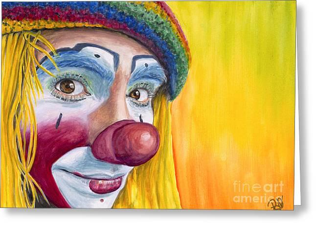 Watercolor Clown #22 Daniel Flores Greeting Card by Patty Vicknair